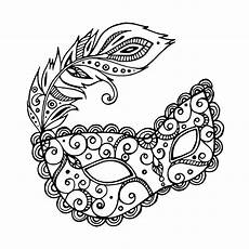 simple carnival mask with feather artist olga lullis