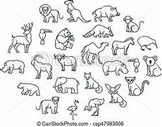 animal icons zoo animals animal icons vector outline
