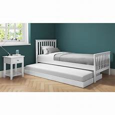 oxford single guest bed in white trundle bed