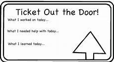 Ticket Out The Door Printable Exit Ticket Clipart Clipart Suggest