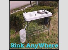 46 Portable Outdoor Sinks, Instant Outdoor Sink Garden Hose Portable Work Table   sociedadred.org