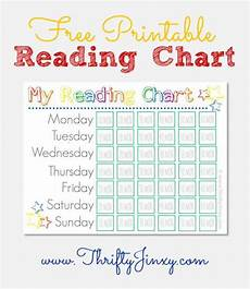 Child Incentive Chart Free Printable Reading Chart Thrifty Jinxy