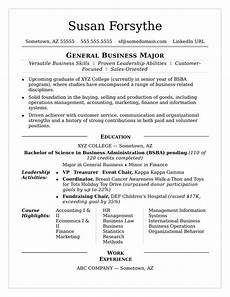 How To Build A College Resumes Resume Examples For College Students College Examples