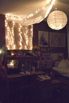 Christmas Lights Dorm Room My Dorm Room Lights Fabric And Chinese Paper Lantern