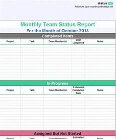 Team Status Report Template 1 Useful Team Status Report Template Free Download