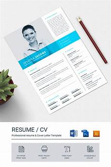 Blue Resume Paper Blue Amp White Resume Template With Header Photo Brochure