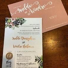 297 undangan pernikahan unik simple elegan terbaik 2019