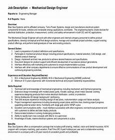 Examples Of Mechanical Engineering Free 10 Sample Mechanical Engineering Job Description