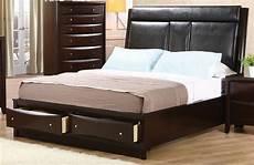 upholstered storage platform bed from