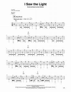 How To Play I Saw The Light On Guitar I Saw The Light Sheet Music Hank Williams Banjo Tab