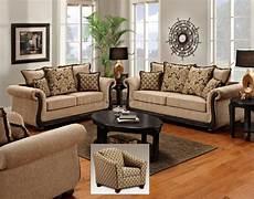 taupe fabric classic sofa loveseat set w options