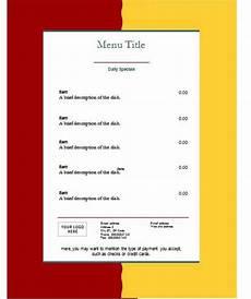 Free Restaurant Menu Templates For Microsoft Word Restaurant Menu Template E Commercewordpress