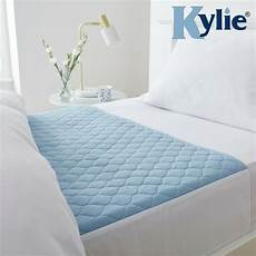 waterproof bed set kylie2 bed pad blue and