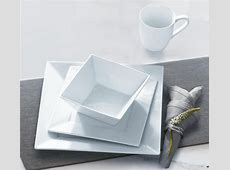 Sandra by Sandra Lee 16pc Square Porcelain Dinnerware Set