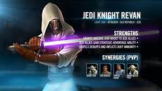 Star Wars Episode Vii Galaxy Battle Light Kit Reveal Jedi Knight Revan Star Wars Galaxy Of Heroes