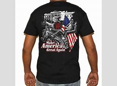 Funny Biker Shirts   Trumps Bitch Hilary Fell Off Motorcycle