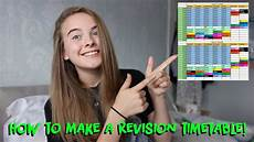Make A Timetable For Me How To Make A Revision Timetable Youtube