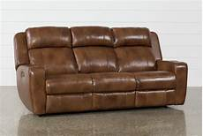 phelps leather power reclining sofa with power headrest