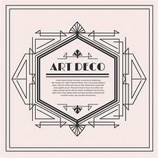 Art Deco Vector Art Deco Vector Label Download Free Vectors Clipart