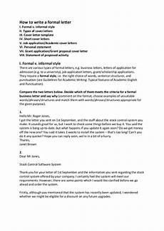 How To Format Letters 7 Formal Letter Writing Examples In Pdf Examples