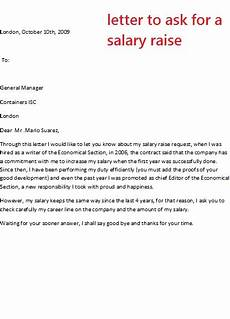 How To Write A Raise Request Letter Letter To Ask For A Salary Raise