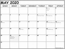 2020 Printable Monthly Calendar With Holidays 2020 Printable Calendars With Us Holidays Free Printable