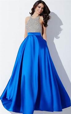 jovani dresses womens royal blue and silver halter neck