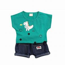 Toddler Clothes For Boys 4t 18m 4t Boys Clothing Set Dinosaur Print Tops Denim Shorts