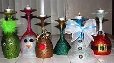 Christmas Wine Glass Tea Light Holders Look What I Made Wine Glass Christmas Tea Light Candle