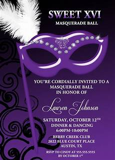 Masquerade Invitations For Sweet 16 Masquerade Mask Sweet 16 Invitation