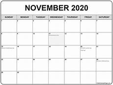 November 2020 Calendar Printable November 2020 Calendar With Holidays