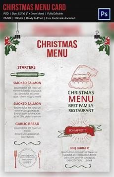 Free Blank Christmas Menu Templates Christmas Menu Template 37 Free Psd Eps Ai
