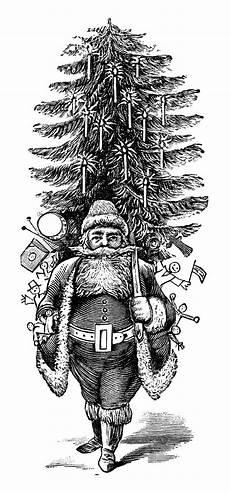 Black And White Christmas Graphics Vintage Santa Clip Art Free Download Free Clip Art