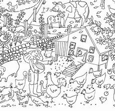 farm colouring in poster by really posters