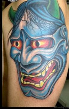 Demon Mask Designs 72 Outstanding Mask Tattoos On Shoulder