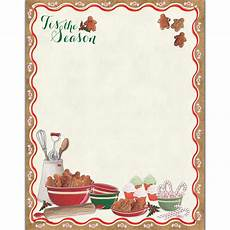 Holiday Stationery Paper Grandma S Christmas Cookies Letterhead 25 Count Pcs1080