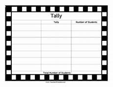 Tally Sheet Template Blank Tally Chart
