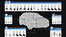 Automotive Light Bulb Application Chart Motor Vehicle Light Bulbs Automotive Bulb Guide