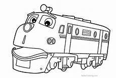 chuggington coloring pages brewster wilson koko