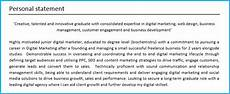 Cv Personal Statement Examples Finance 10 Cv Personal Statement Examples Job Winning Tips 2020
