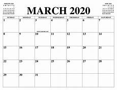 March 2020 Printable Calendar With Holidays March 2020 Calendar Printable Template With Holidays