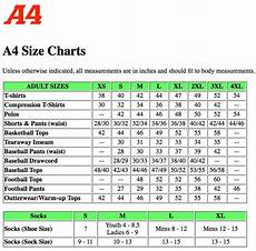 What Is My Size Chart Size Chart A4