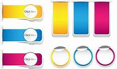Paper Click Free Set Of Colored Vector Click Here Paper Labels 01