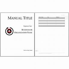 User Guide Cover Page Template 8 User Manual Templates Word Excel Pdf Formats