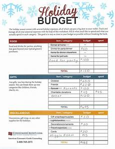 Holiday Budget Template Challenge Cash Only Christmas Talking Cents