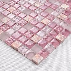 frosted glass backsplash in kitchen pink glass tile mosaic square 3 5 quot frosted glass