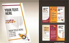 3 Column Brochure Set Of Tri Fold Business Brochure Cover Vector Free Vector