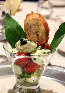 great al fresco serving idea martini caprese salad