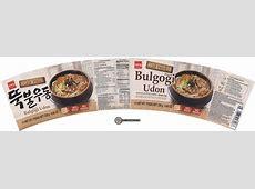 #2922 Wang Bulgogi Flavor Udon Korean Style Noodle   The