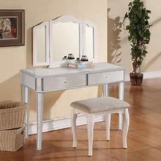 mirrored makeup dressing table vanity console silver glass